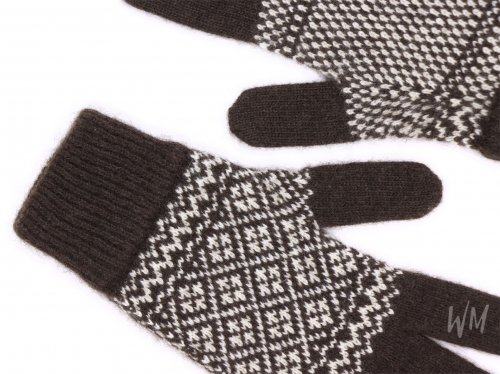 Перчатки, пух яка + кашемир