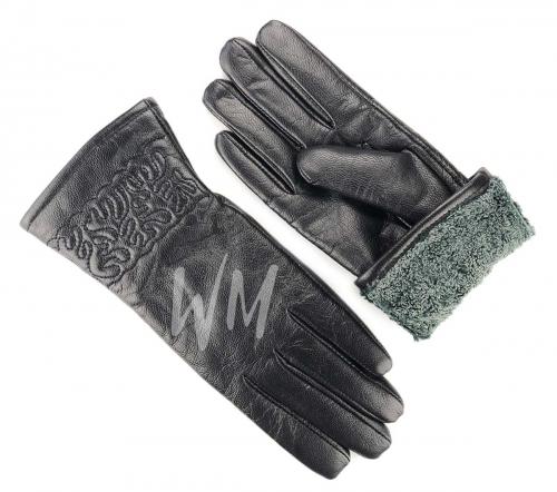 Перчатки кожаные женские