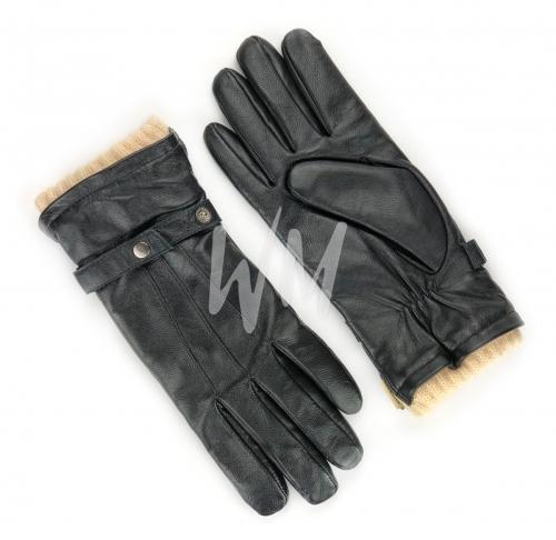 Перчатки кожаные с подкладом из верблюжьей шерсти. Мужские