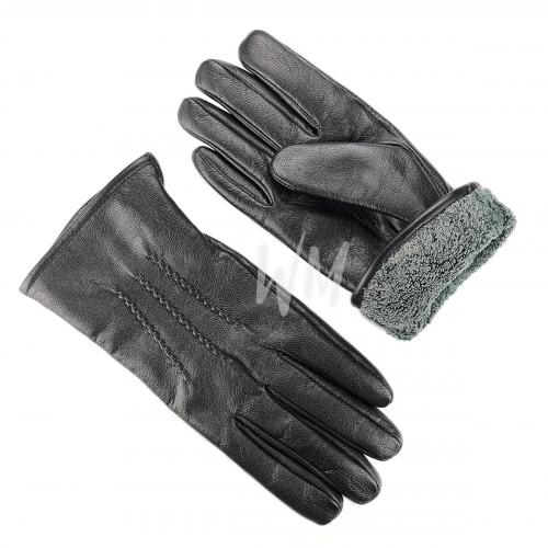 Перчатки кожаные с подкладом