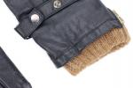 Перчатки кожаные с подкладом из верблюжьей шерсти. Женские
